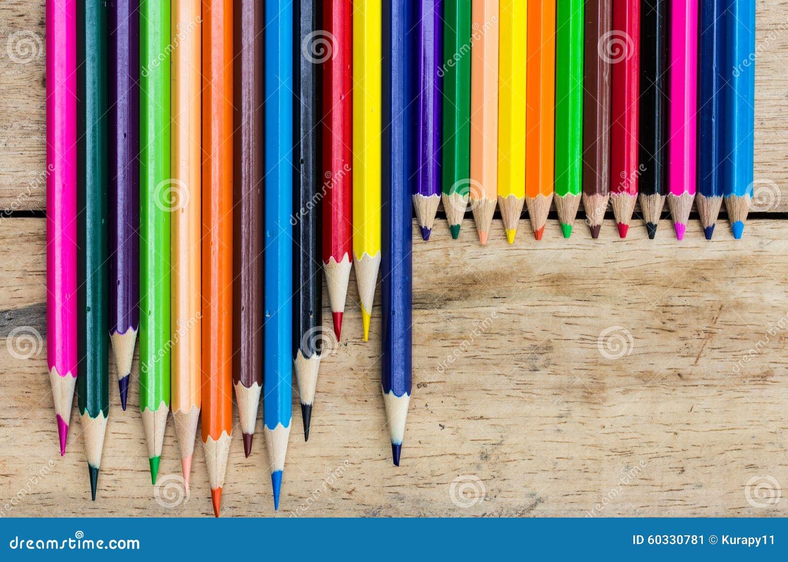 Coloured pencils on wood