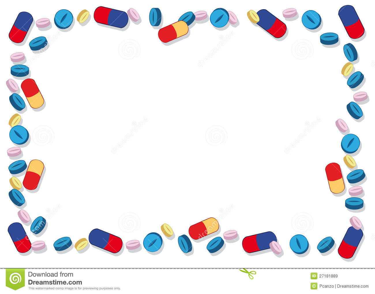 Royalty Free Stock Images Coloured Pills Frame Image27181889 on Time Capsules