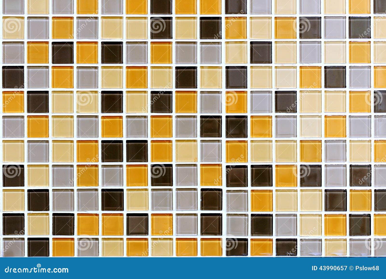 Coloured Tiles Wall stock image  Image of orange, grey - 43990657