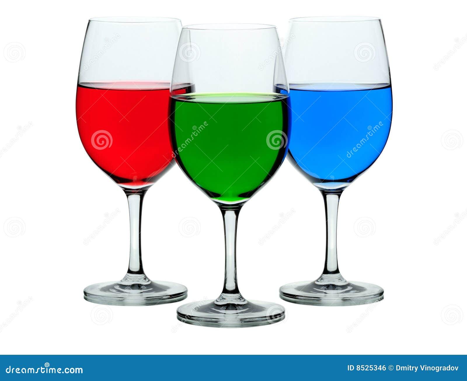 Coloured Wine Glasses Royalty Free Stock Image Image