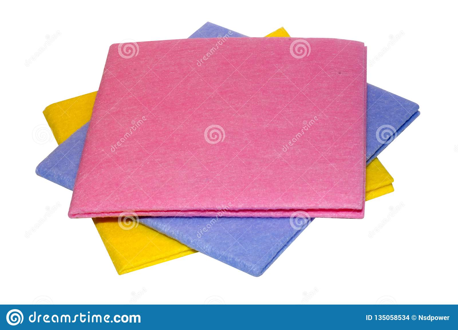 Coloured wipes for wet cleaning