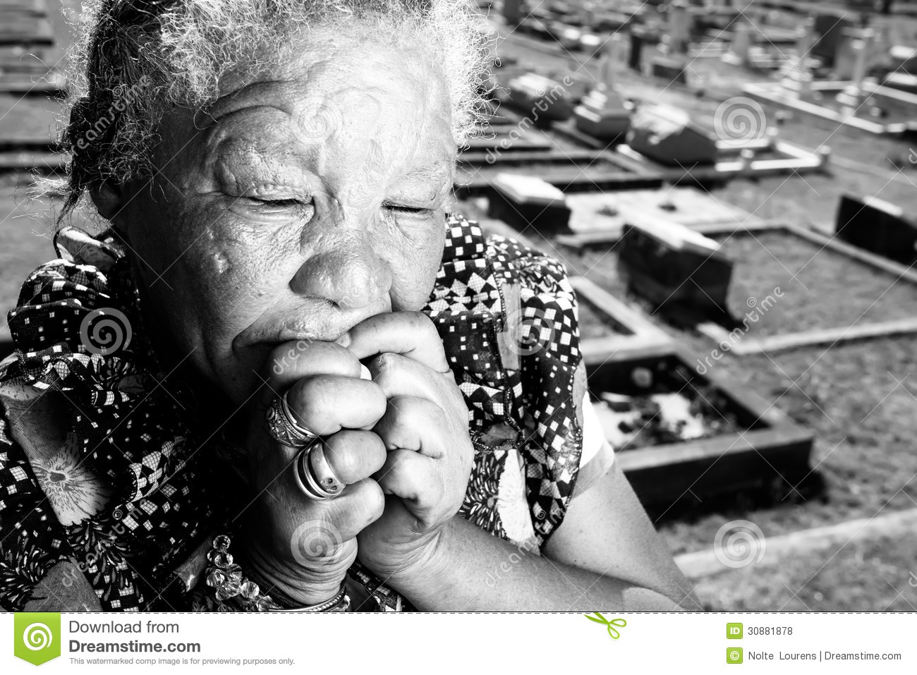 Coloured Woman Crying And Thinking Royalty Free Stock ...