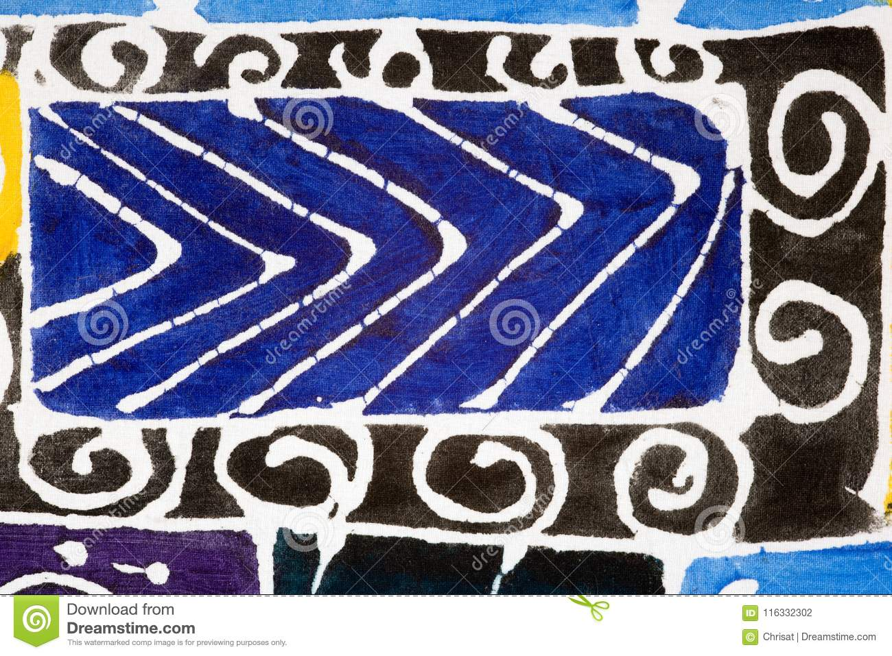 Abstract fabric painting stock photo  Image of materials