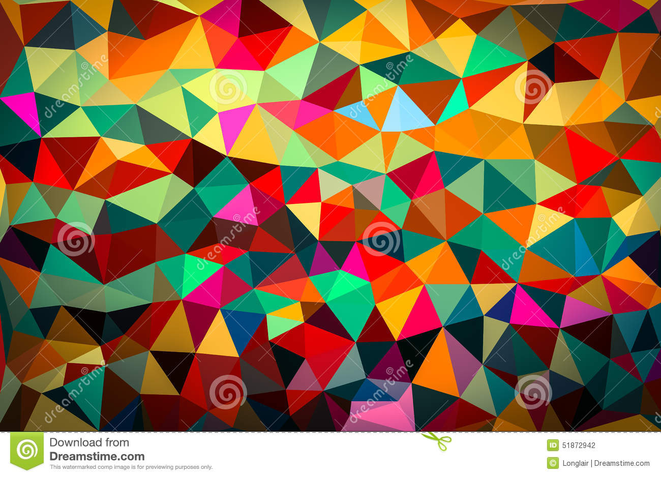 colourful abstract geometric background with triangular polygons