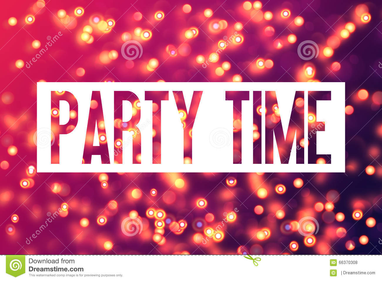 Colourful Background Party Time Bachelorette Party Template