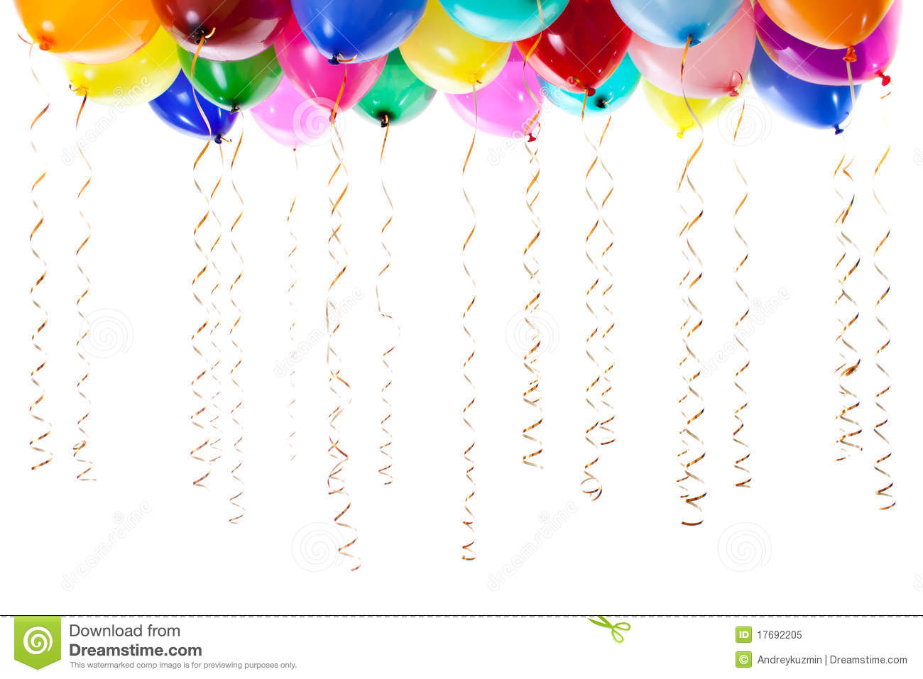clip art free balloons and streamers - photo #13