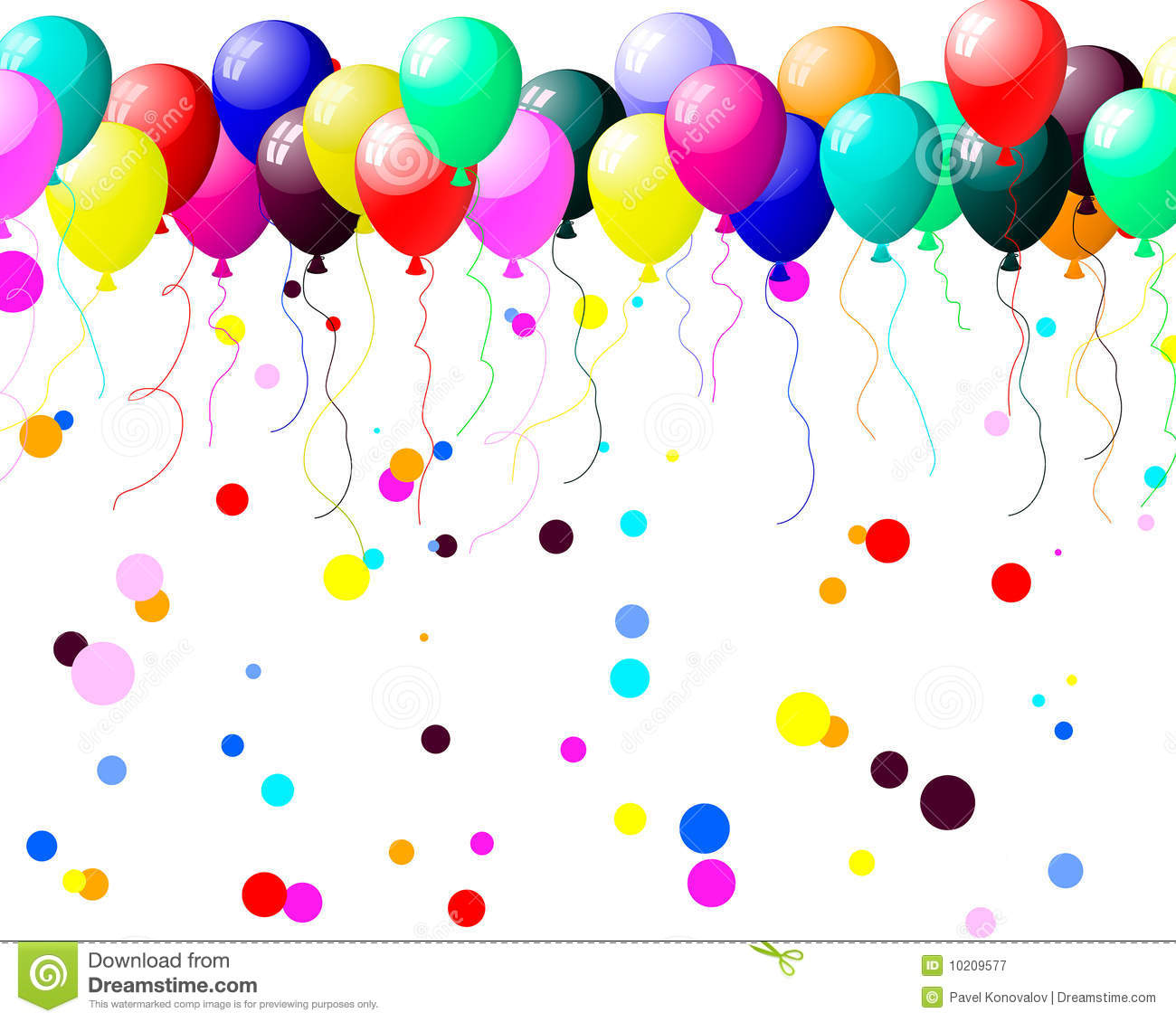 Colourful Balloons With Glare Stock Vector Illustration Of