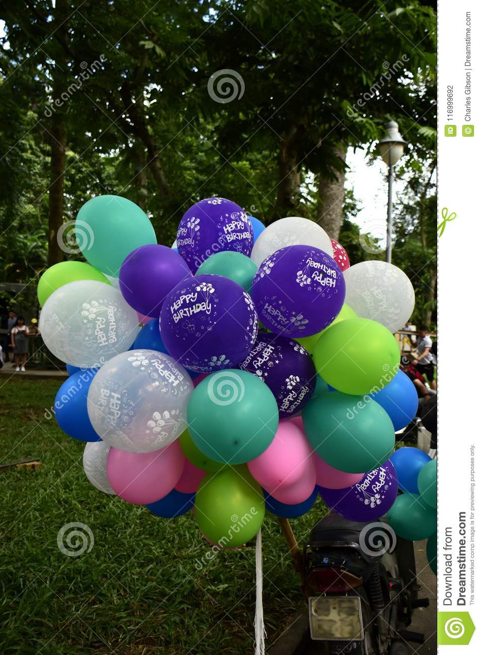 Colourful Birthday Balloons On Sale Here At Saigon Zoo In Ho Chi Minh City Vietnam