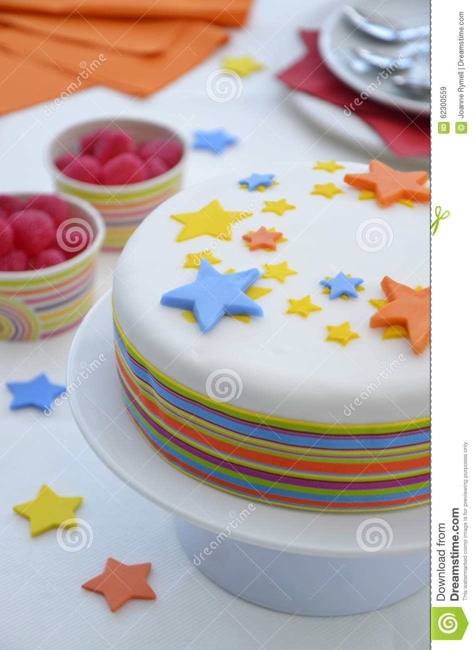 Colourful Birthday Cake Table Setting