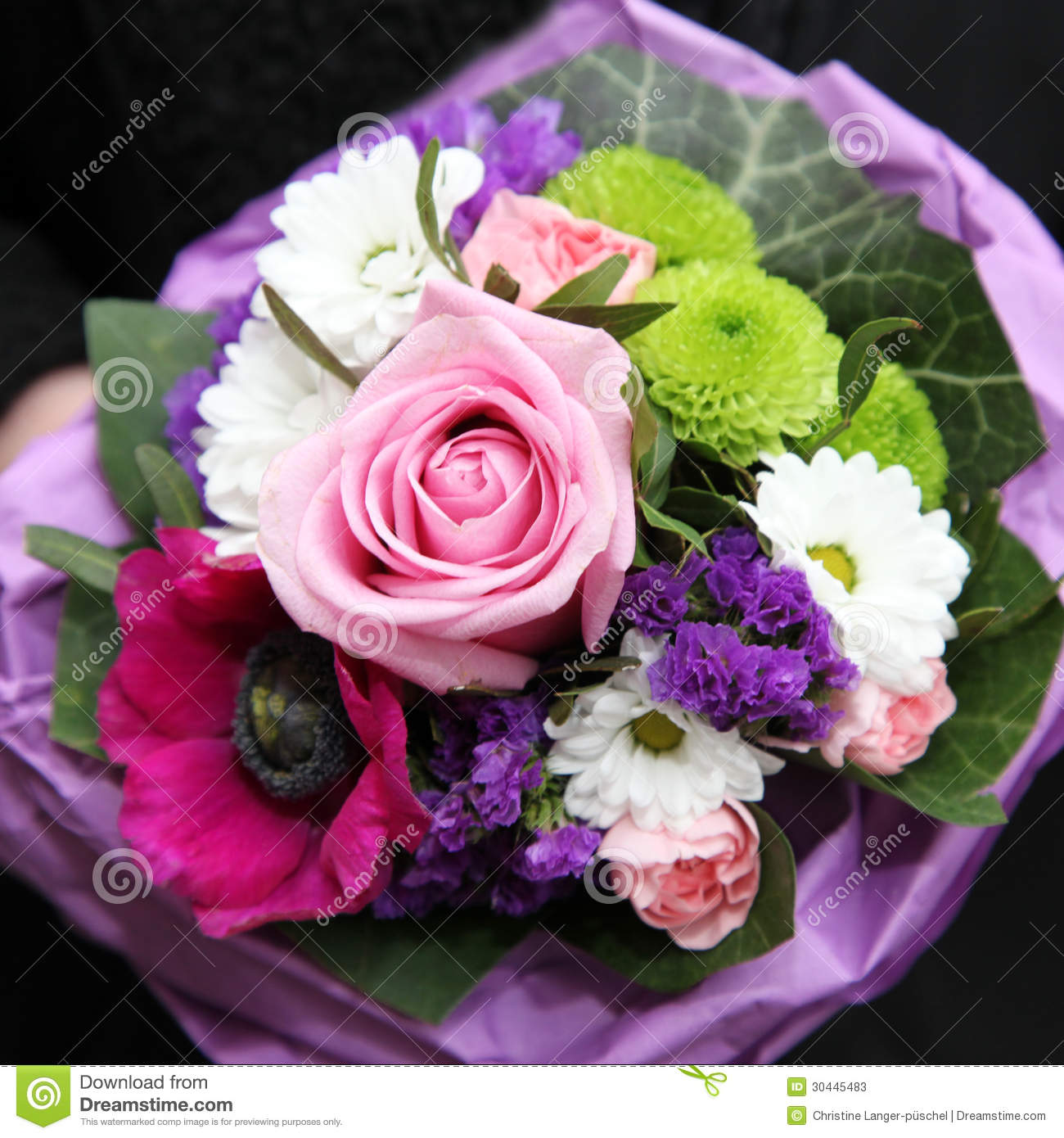Bouquet Of Colourful Flowers Stock Photo Image Of Bloom