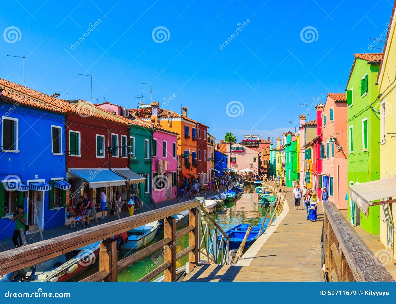 Colorful burano italy burano tourism - Colourful Buildings On Burano Island Editorial Stock Image
