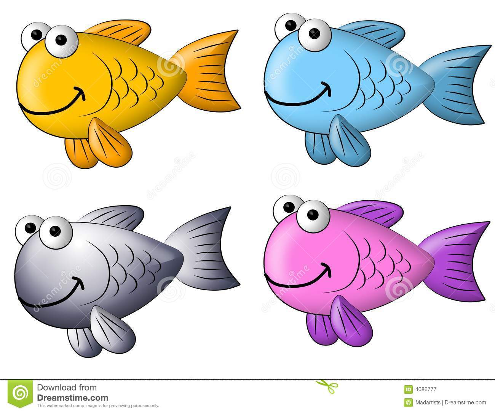 Colorful fish clip art