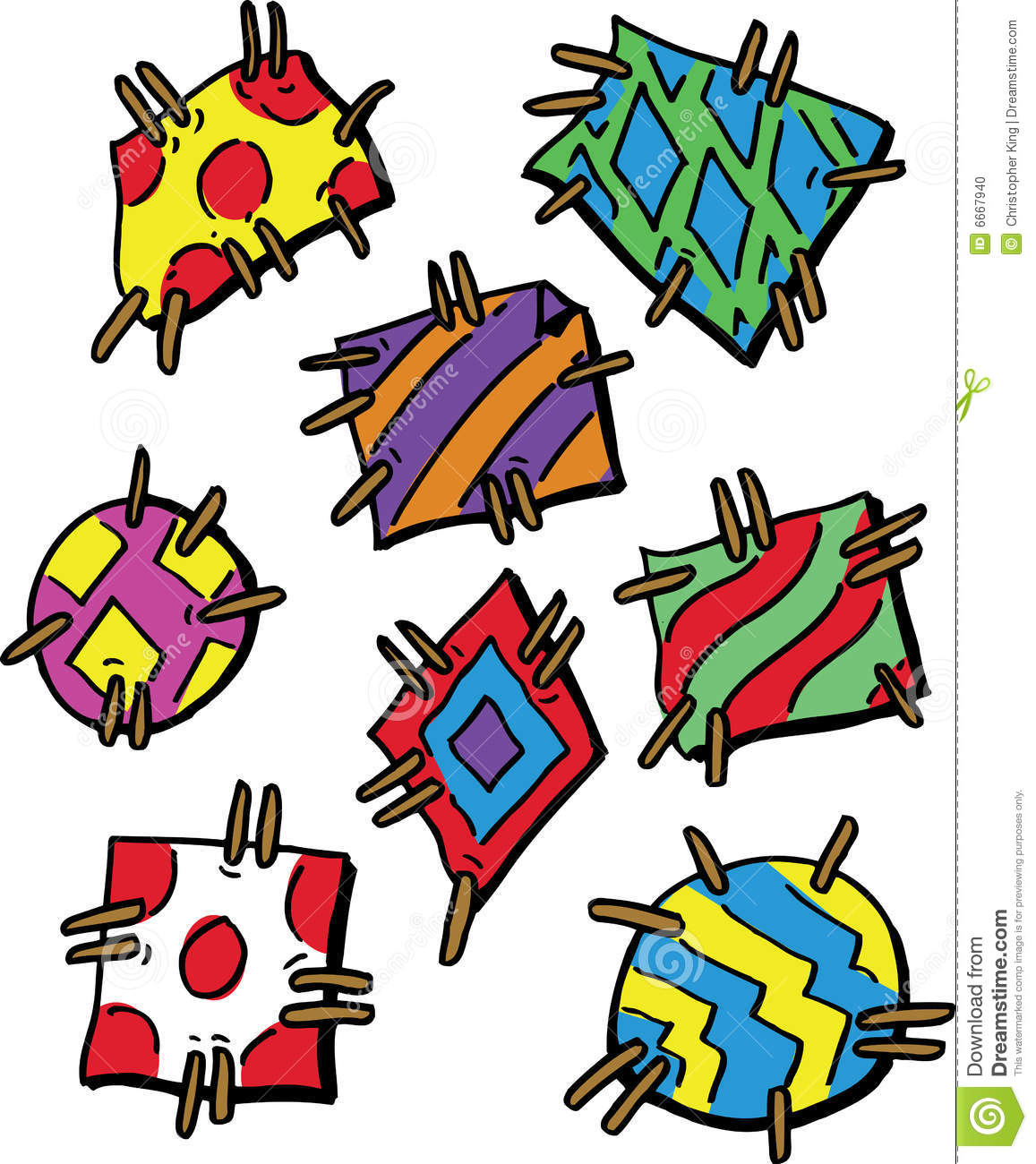 colourful cartoon style patches stock photo image 6667940 owl clip art template owl clip art coloring pages