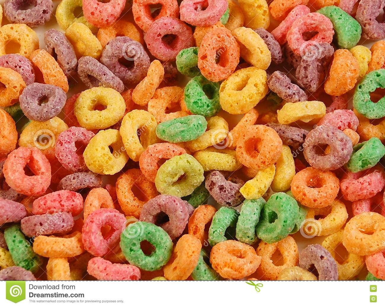 Colourful cereal