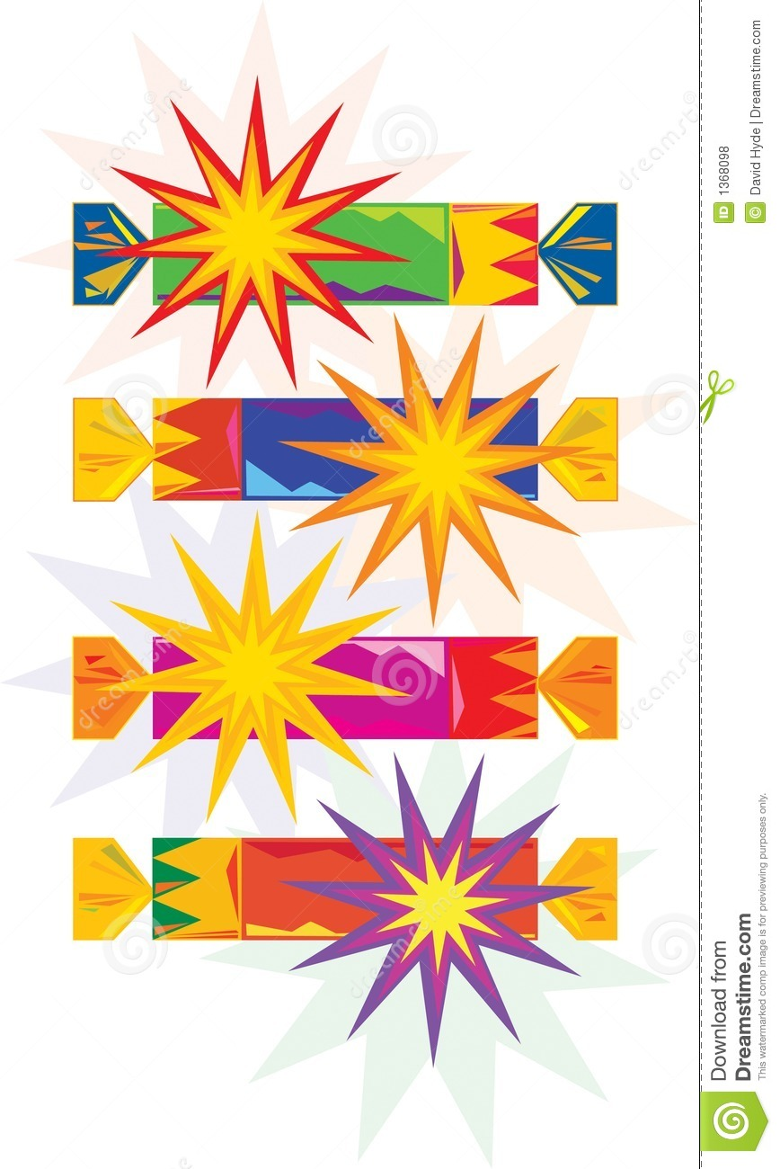 Christmas crackers stock vector. Illustration of presents 43251.