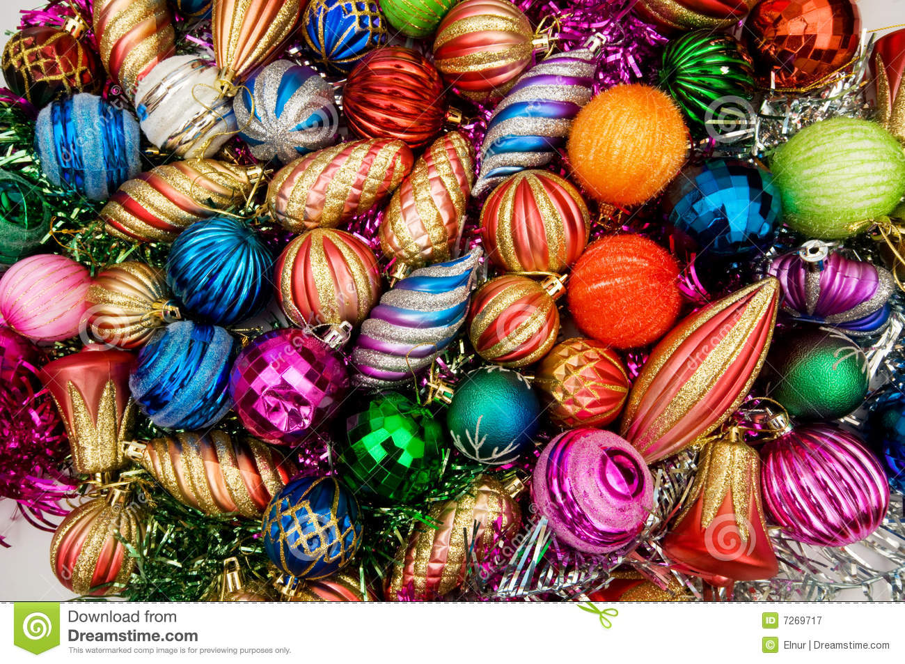 Royalty-Free Stock Photo. Download Colourful Christmas Decorations ...