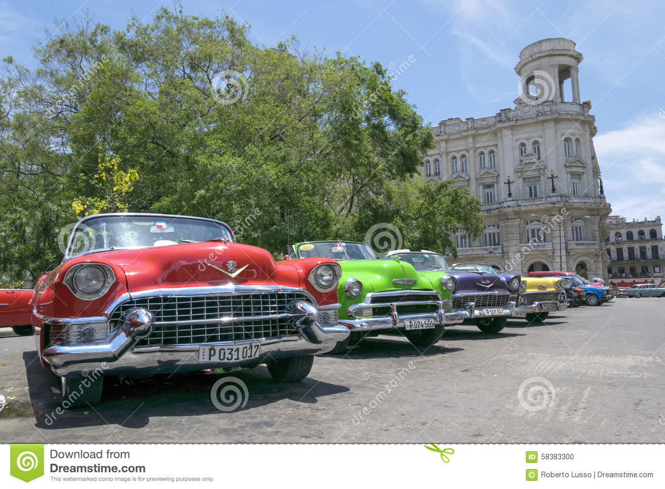Colourful Classic Cars In Havana Cuba Editorial Image Image