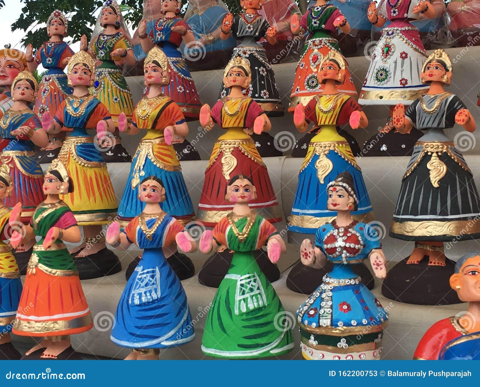 Thanjavur dolls stock image. Image of colourful, dolls - 162200753