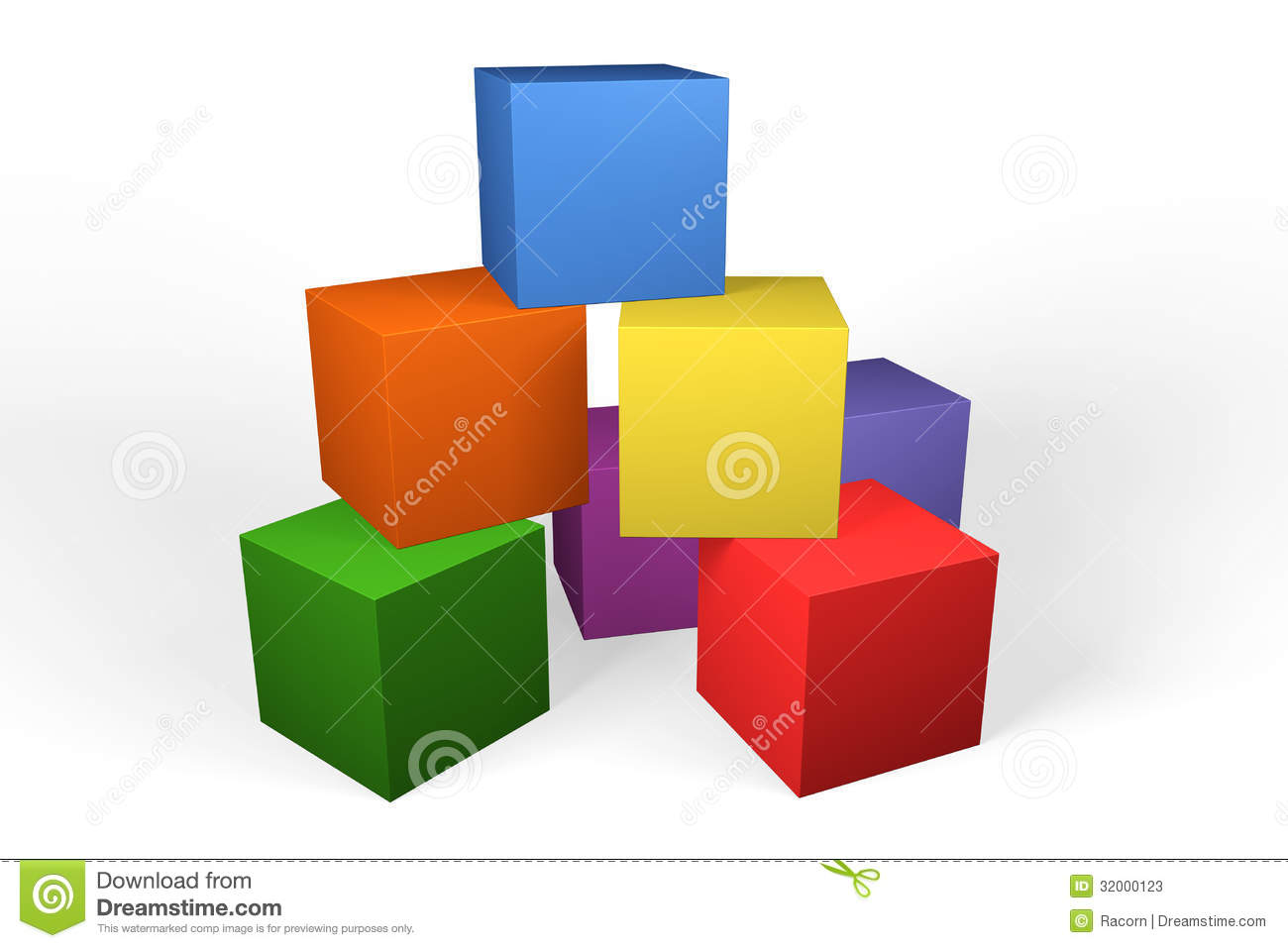 Colourful 3d Building Blocks Stock Photos Image 32000123