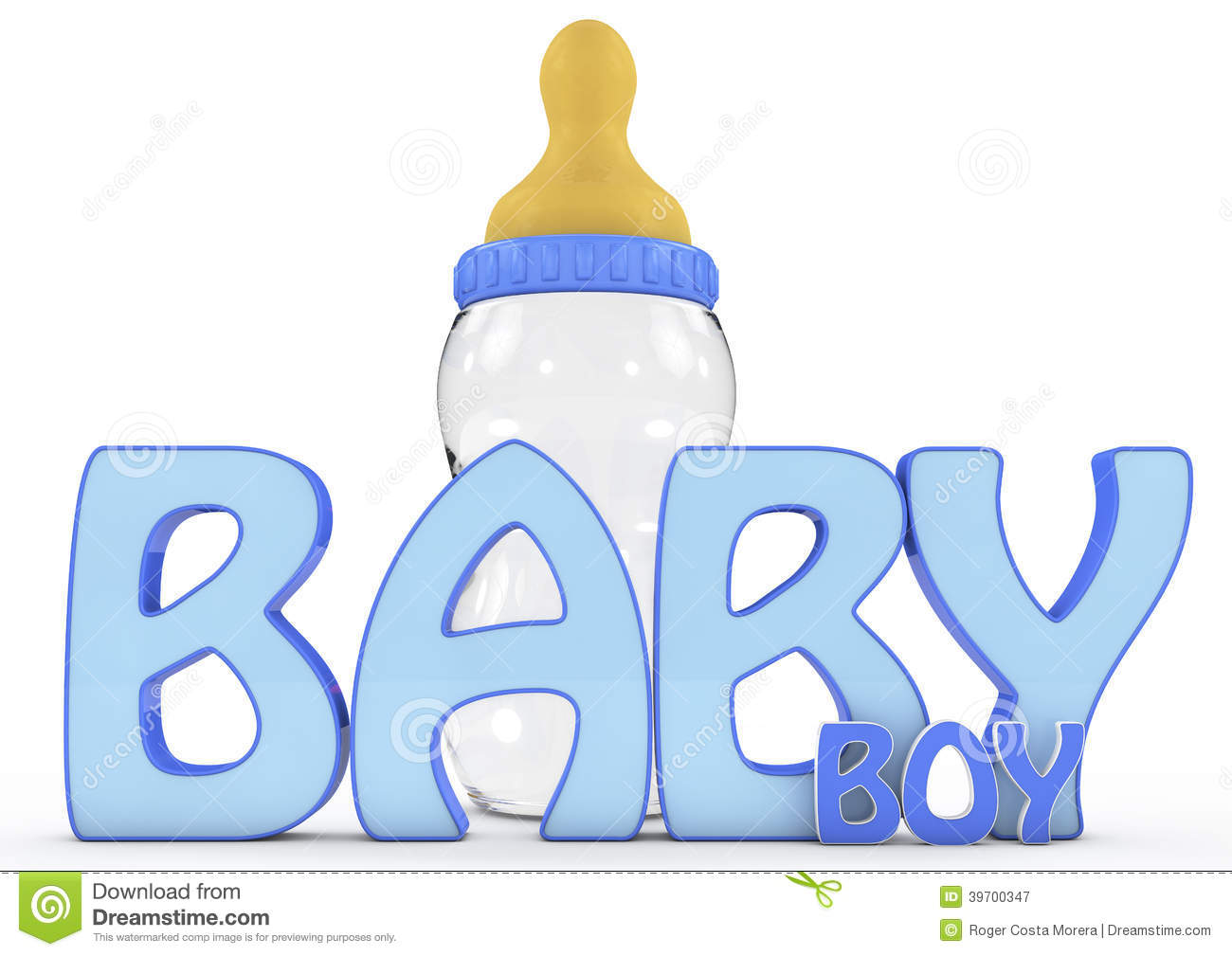 Colourful 3d Rendered Baby Boy Text Stock Illustration - Image ...