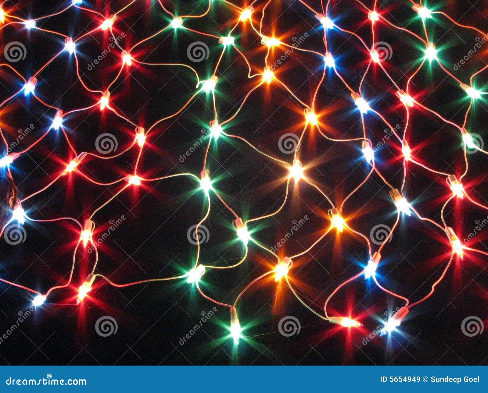 Colourful decorative light net string