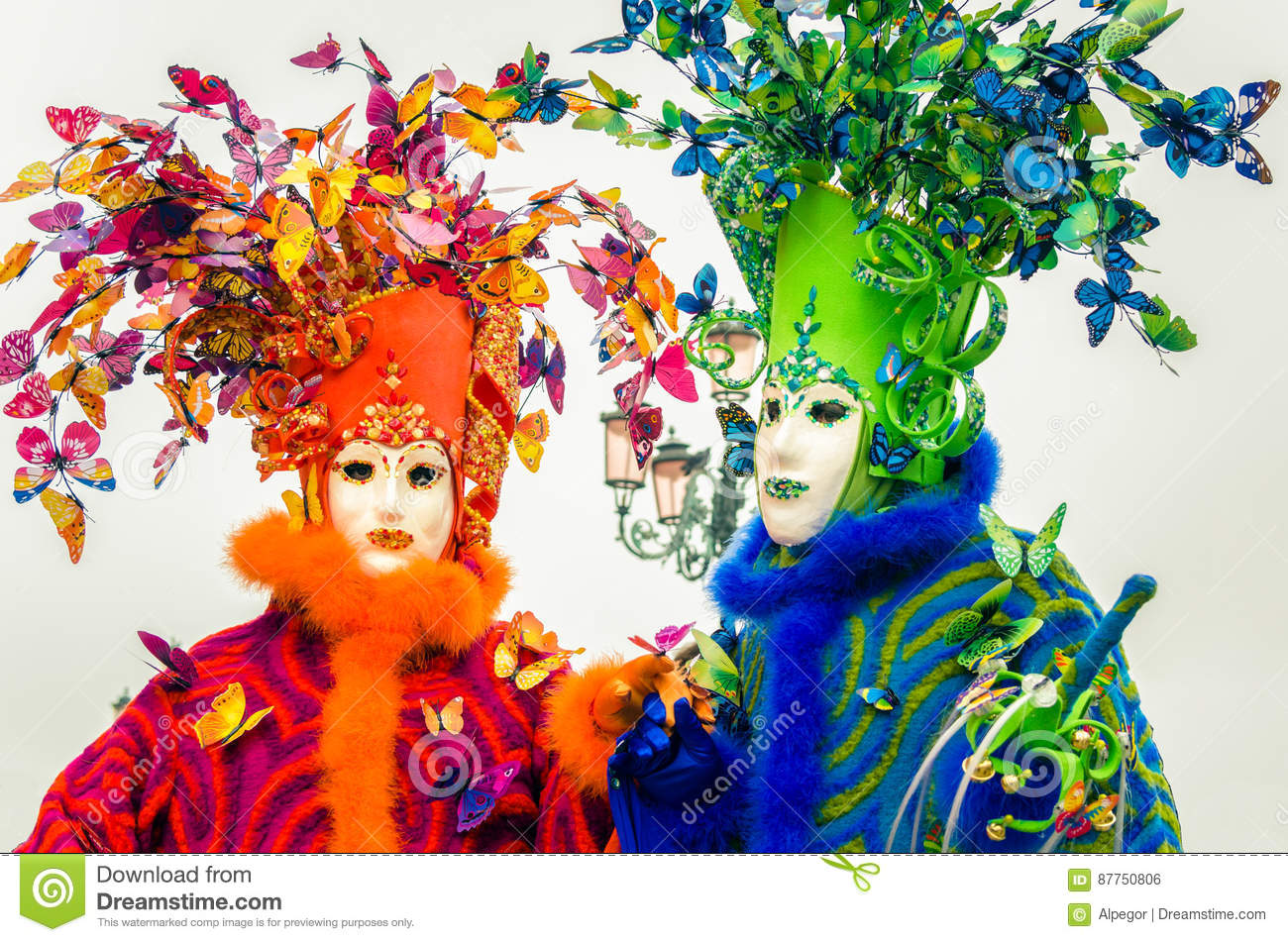 Colourful and Elaborate Masks in Venice for the Carnival