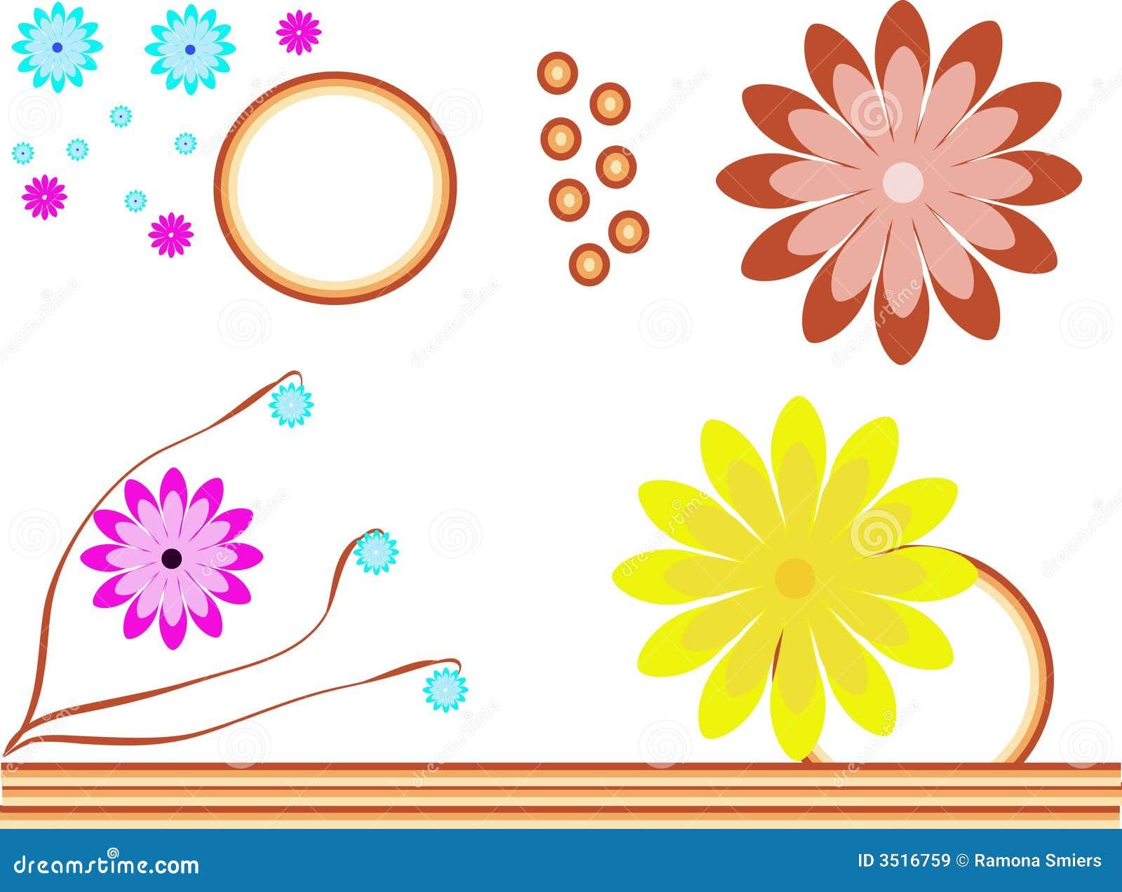 Colourful flowers illustration