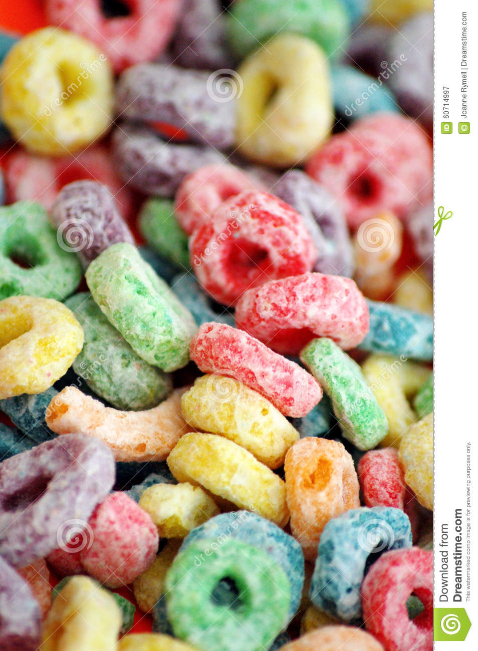 Colourful Fruit Flavour Breakfast Cereal