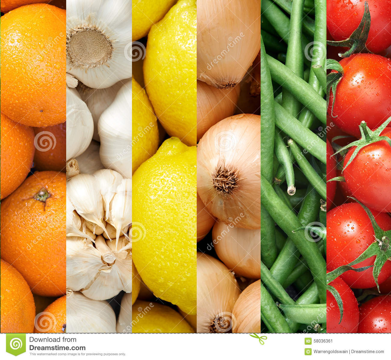 Colourful Fruit And Vegetable Backgrounds Collage Stock ...