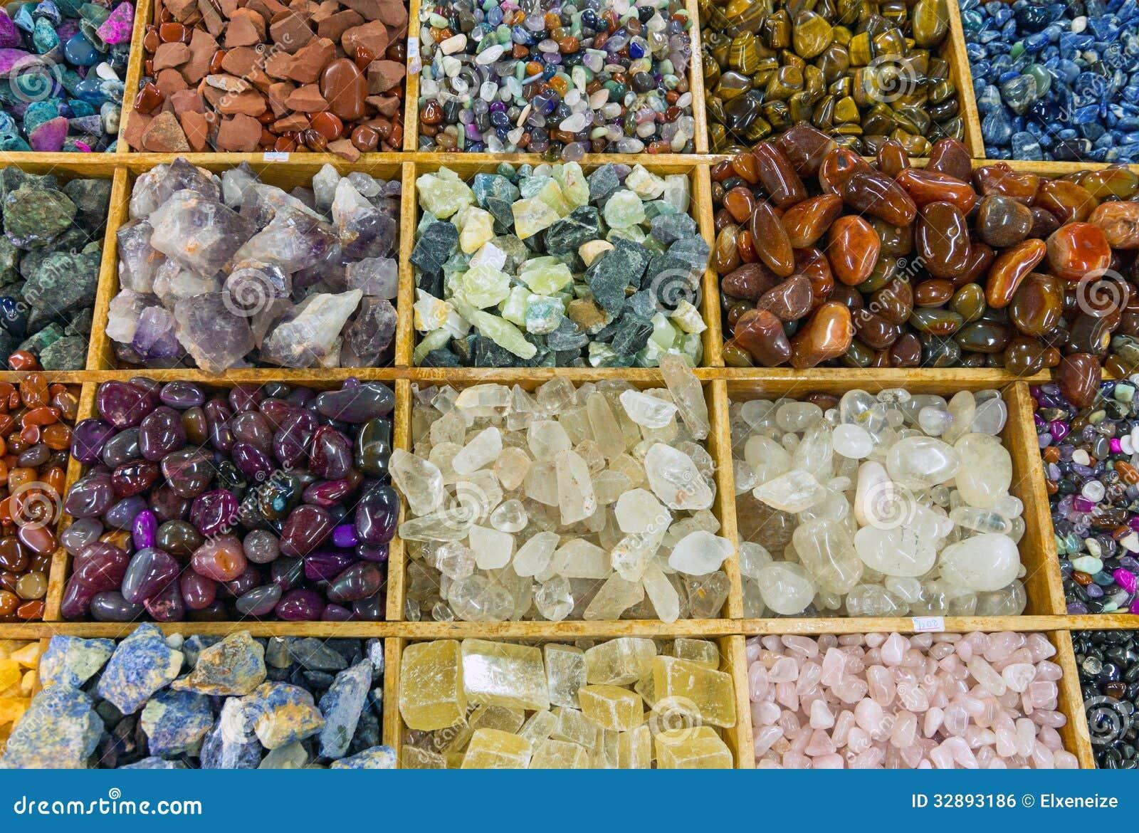 Colourful gemstones stock photo. Image of blue, precious - 32893186