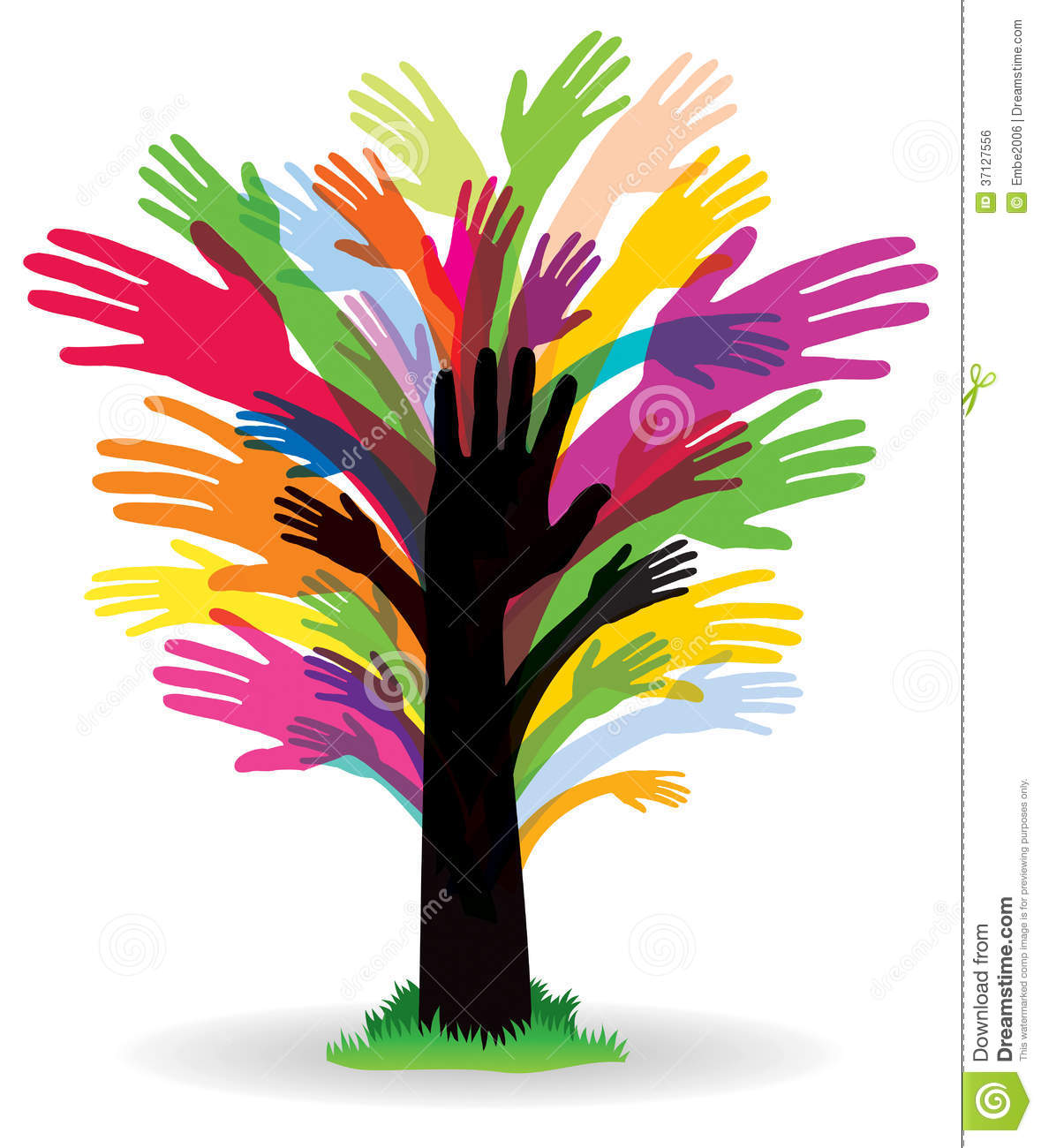 Colourful Hand Tree Stock Vector Illustration Of Image 37127556
