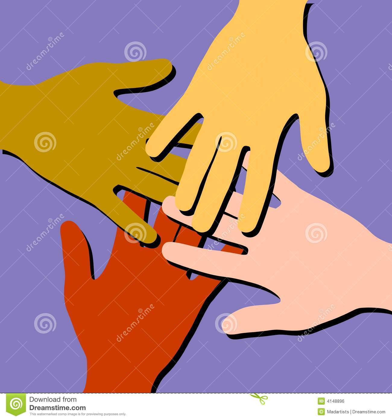 Helping Hands Clip Art