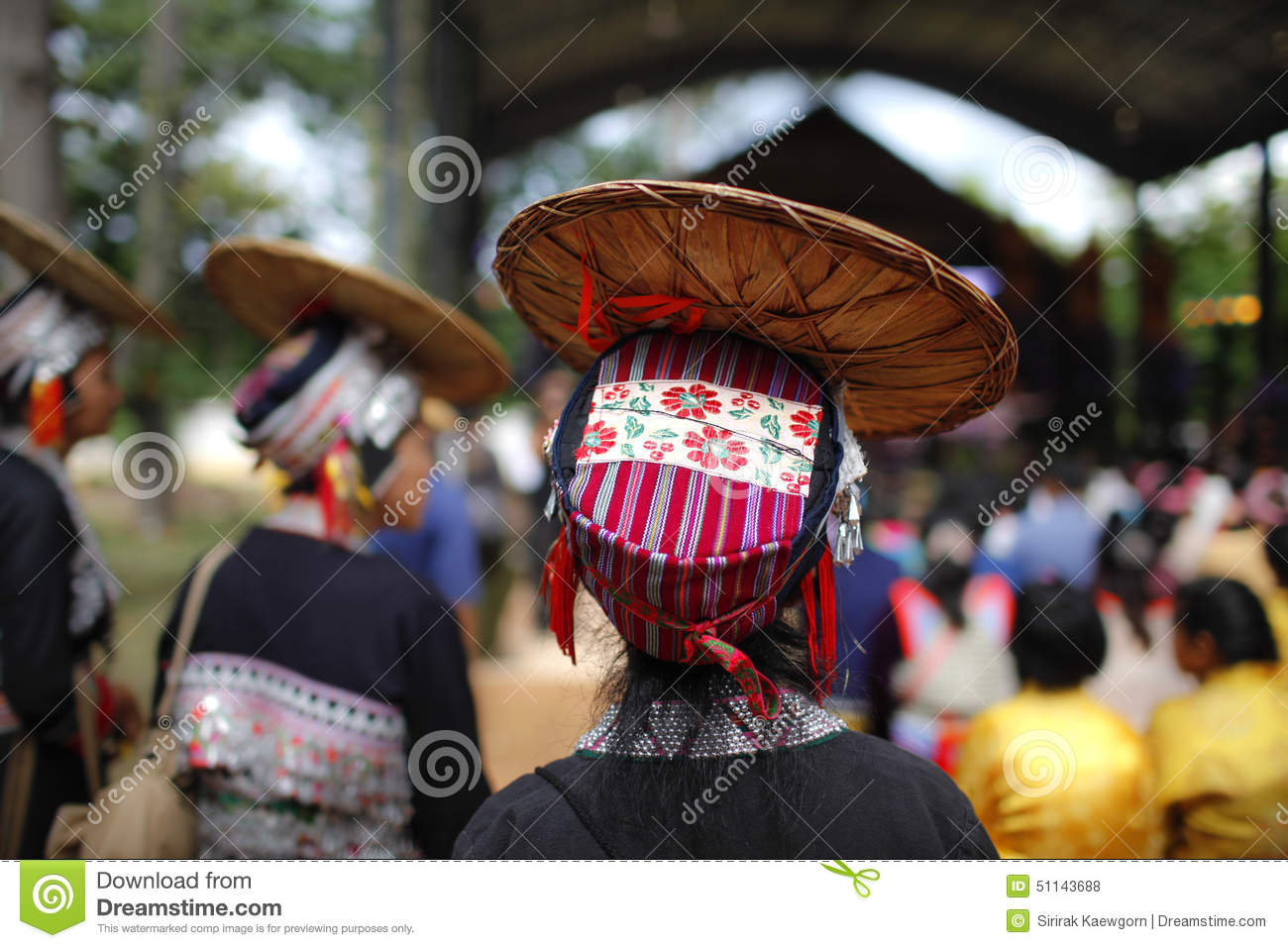 Colourful hill tribe hat