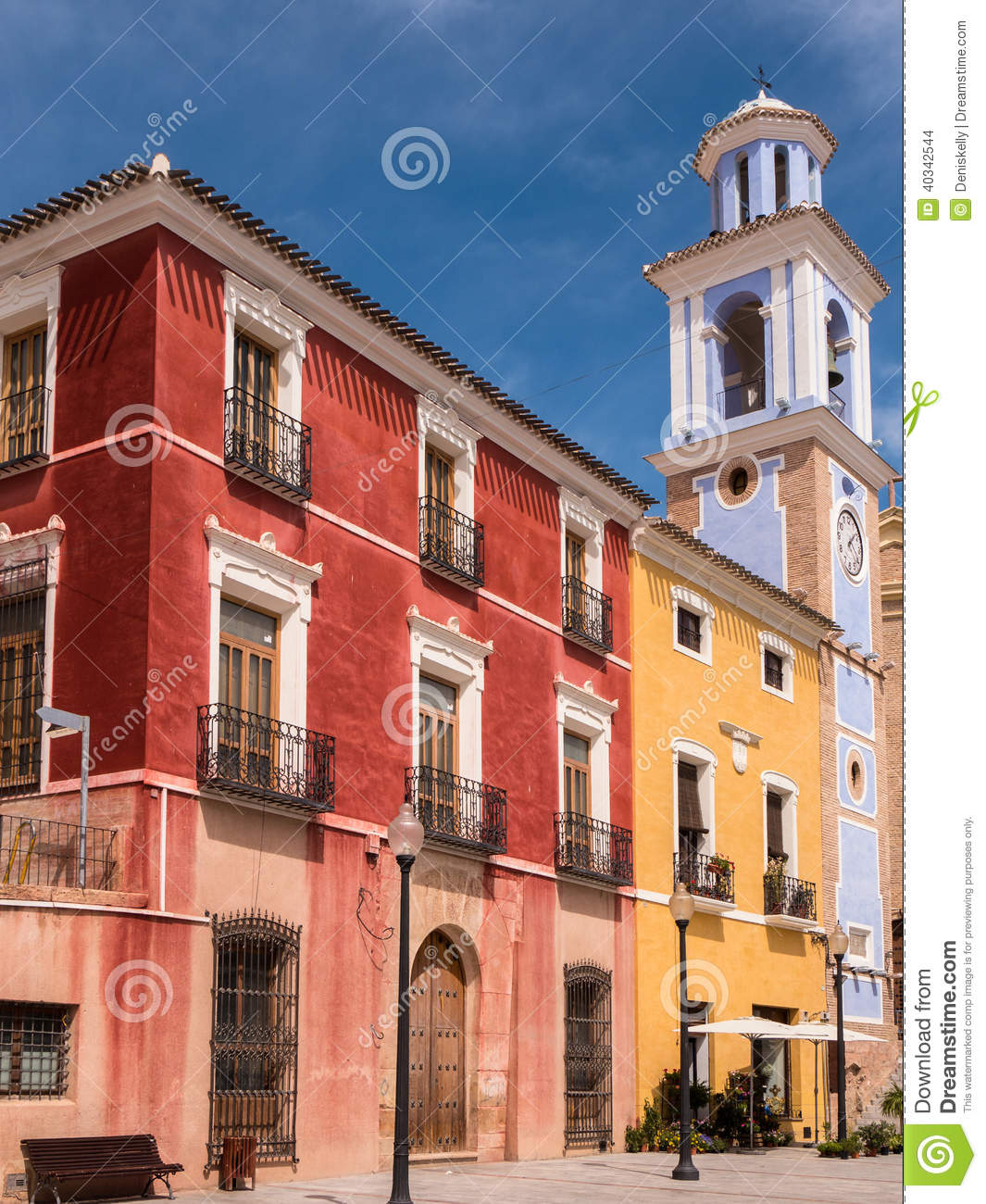 Colourful Historic Buildings in Mula, Spain