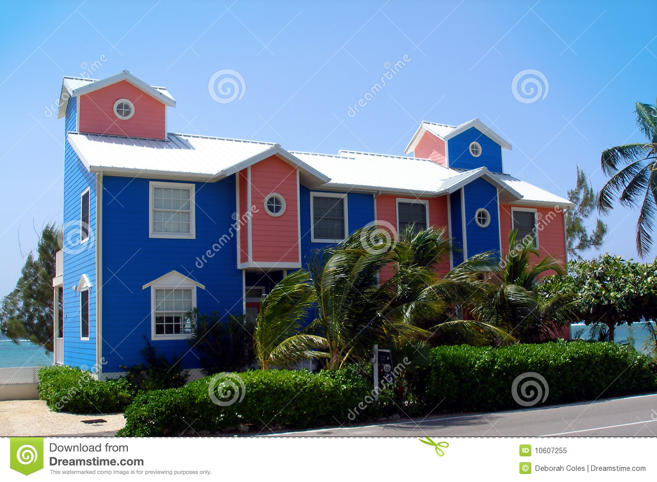 Beautiful And Colourful Beachfront Homes On The Caribbean Island Of