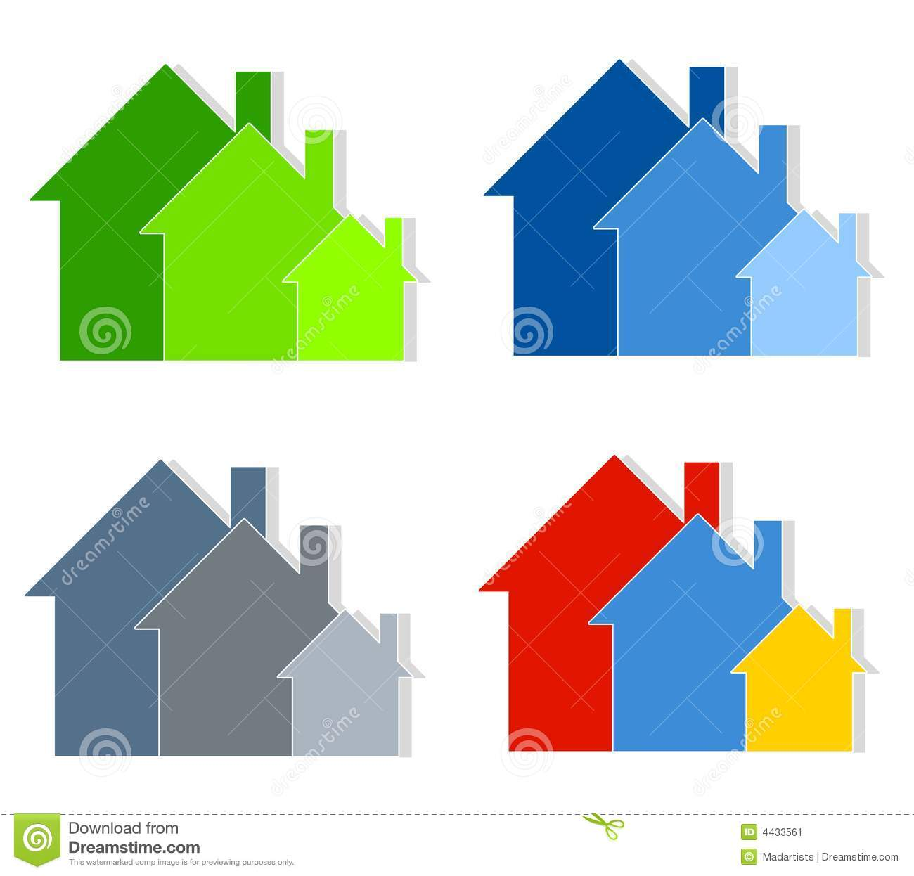 row of houses clip art house stock illustration illustration of rh dreamstime com  row of houses clipart black and white