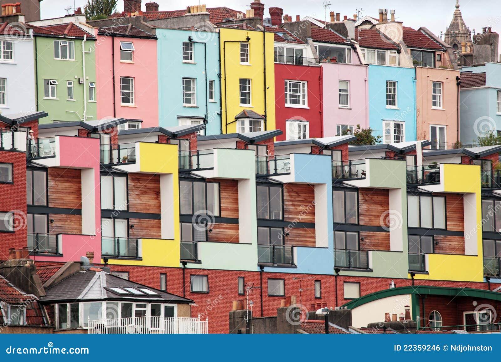 Colourful houses, Bristol, England