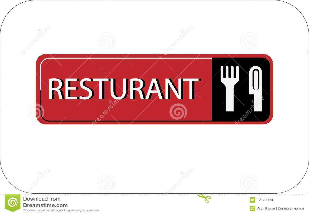 Colourful resturant vector image web icon