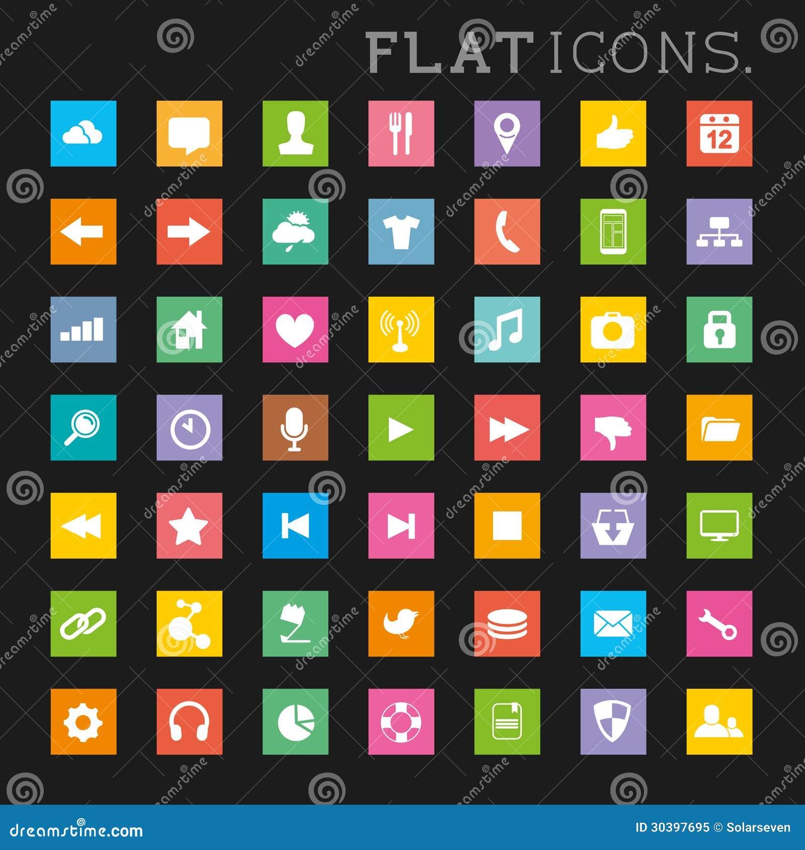 Colourful interfejs ikony