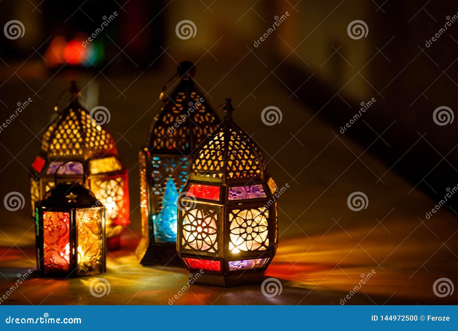 Colourful j?zyka arabskiego Ramadan lampion