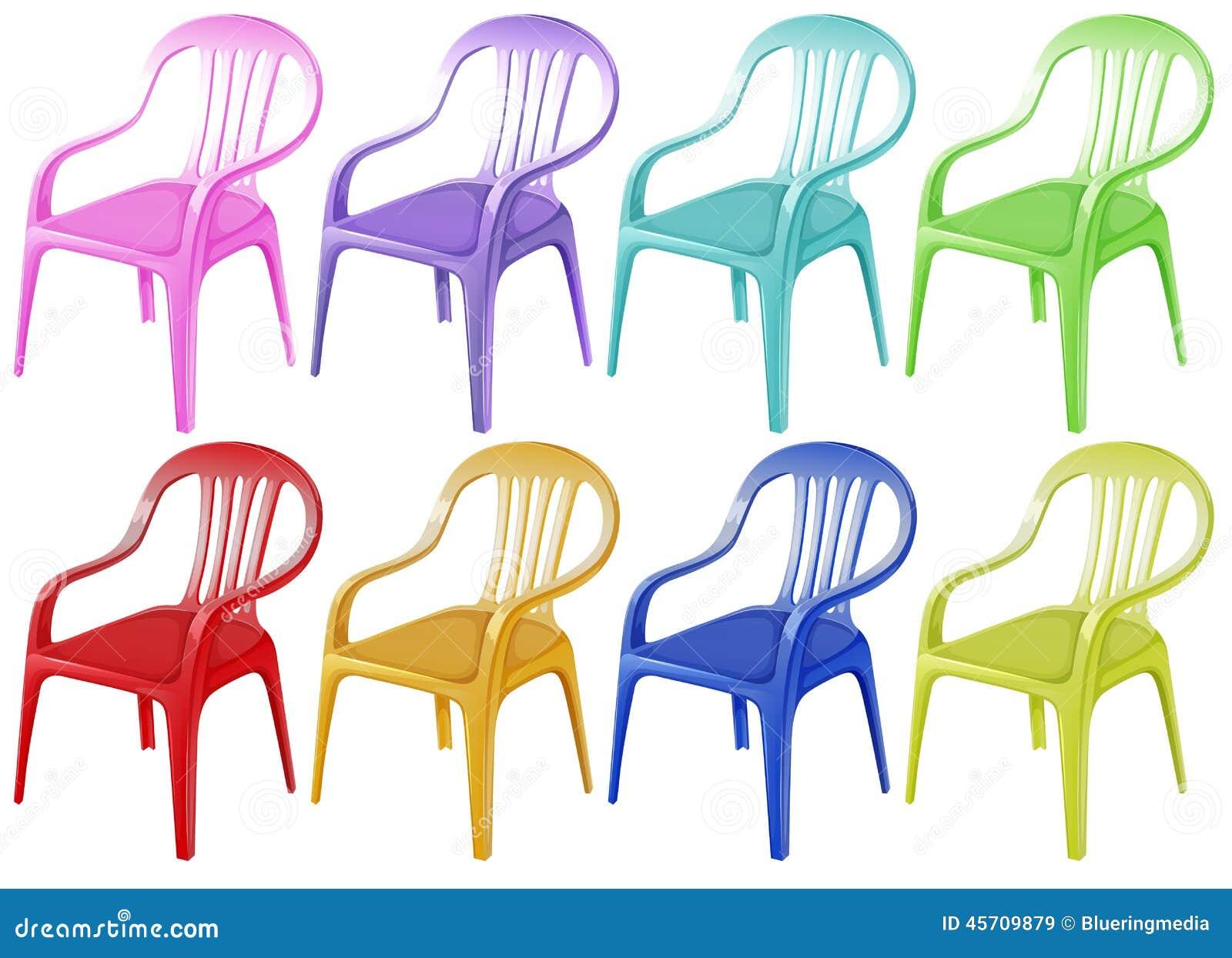 Colourful klingerytów krzesła