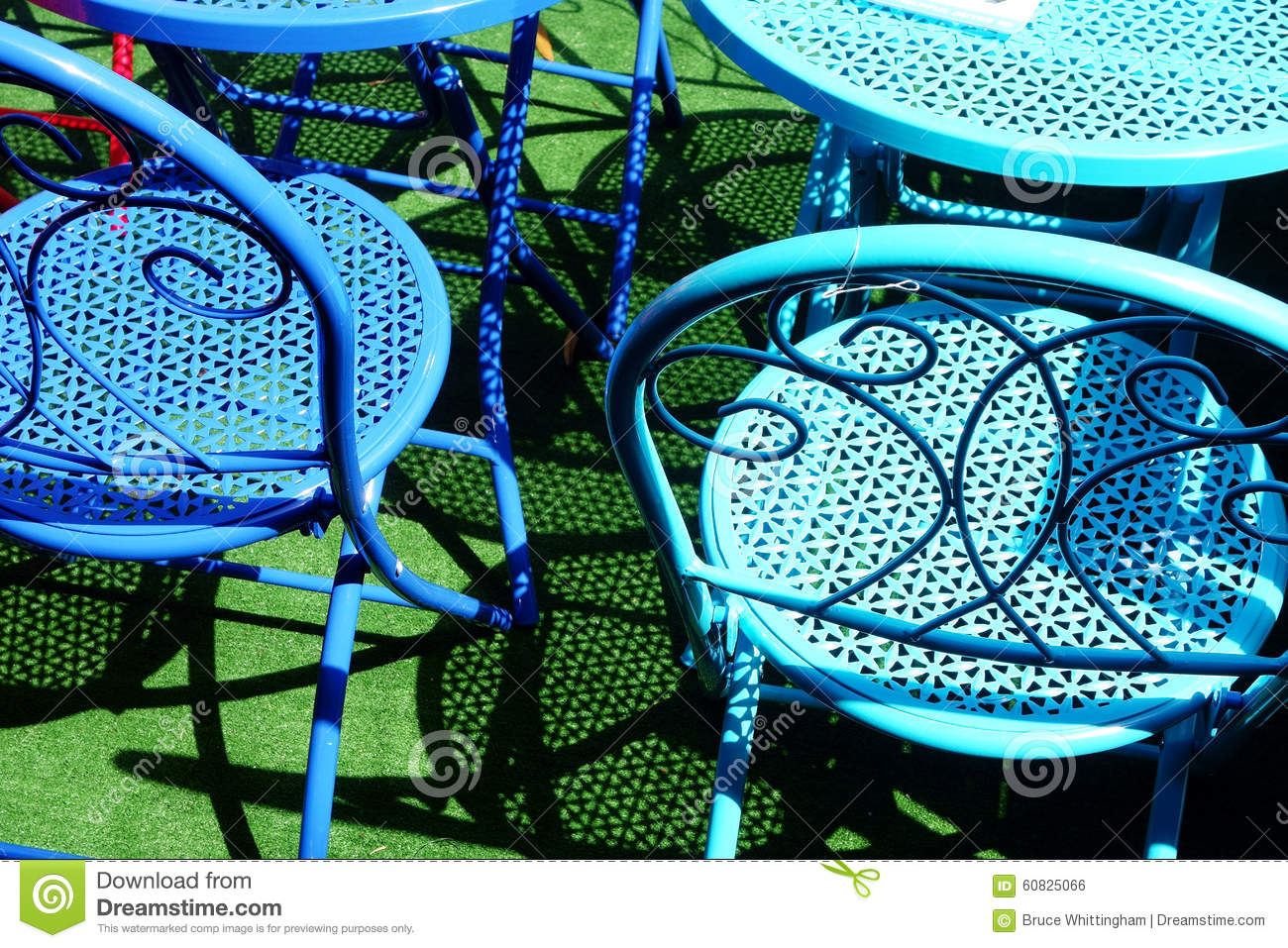 Colourful Metal Outdoor Chairs