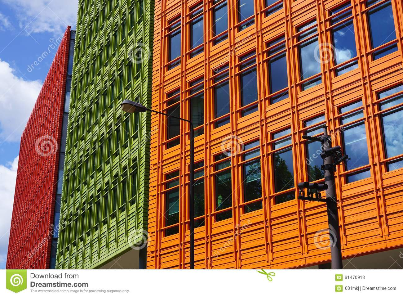 colourful modern building facade london uk editorial stock photo brightly colored offices central st