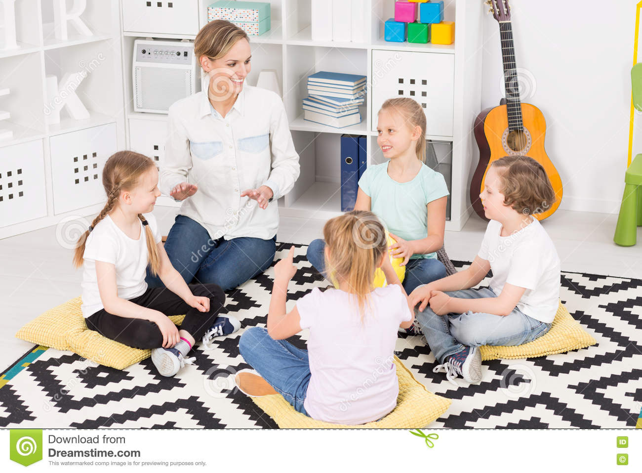 Colourful music classes in a friendly school