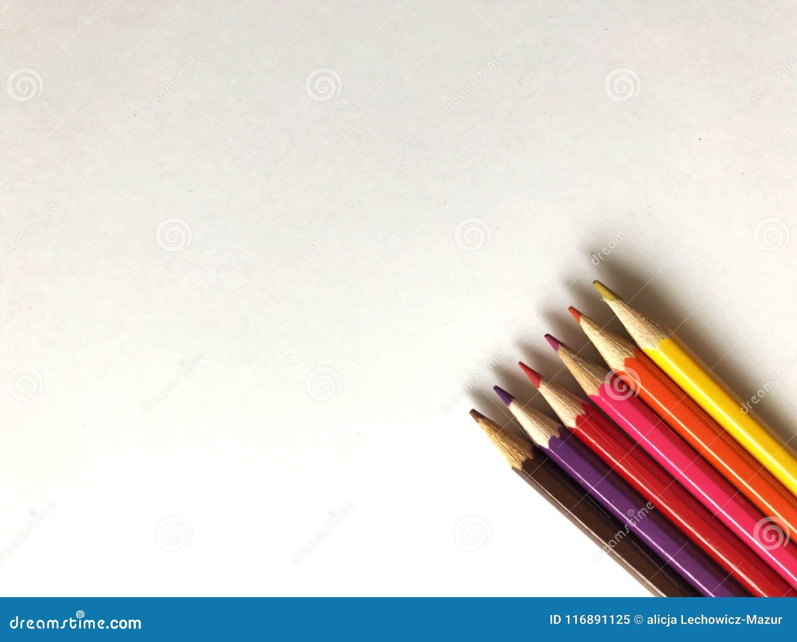 Colourful ołówki