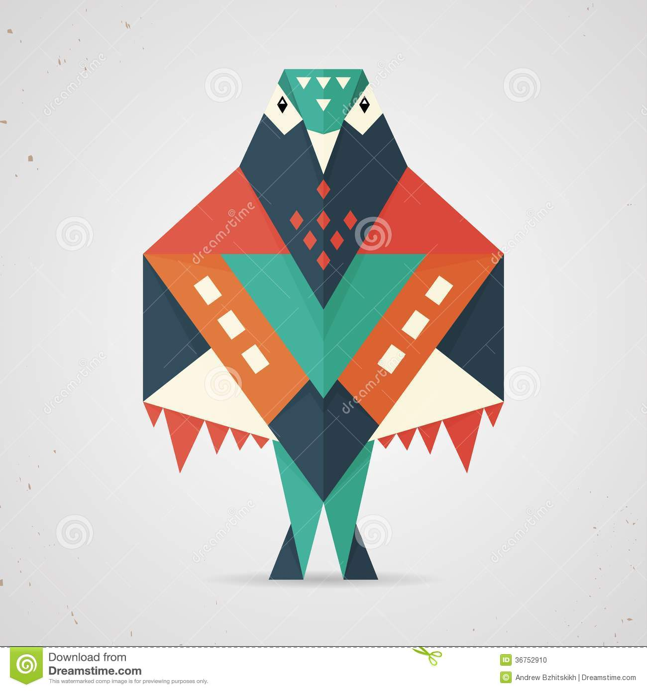 Colourful Origami Pigeon Or Dove Stock Photo - Image: 36752910 - photo#15