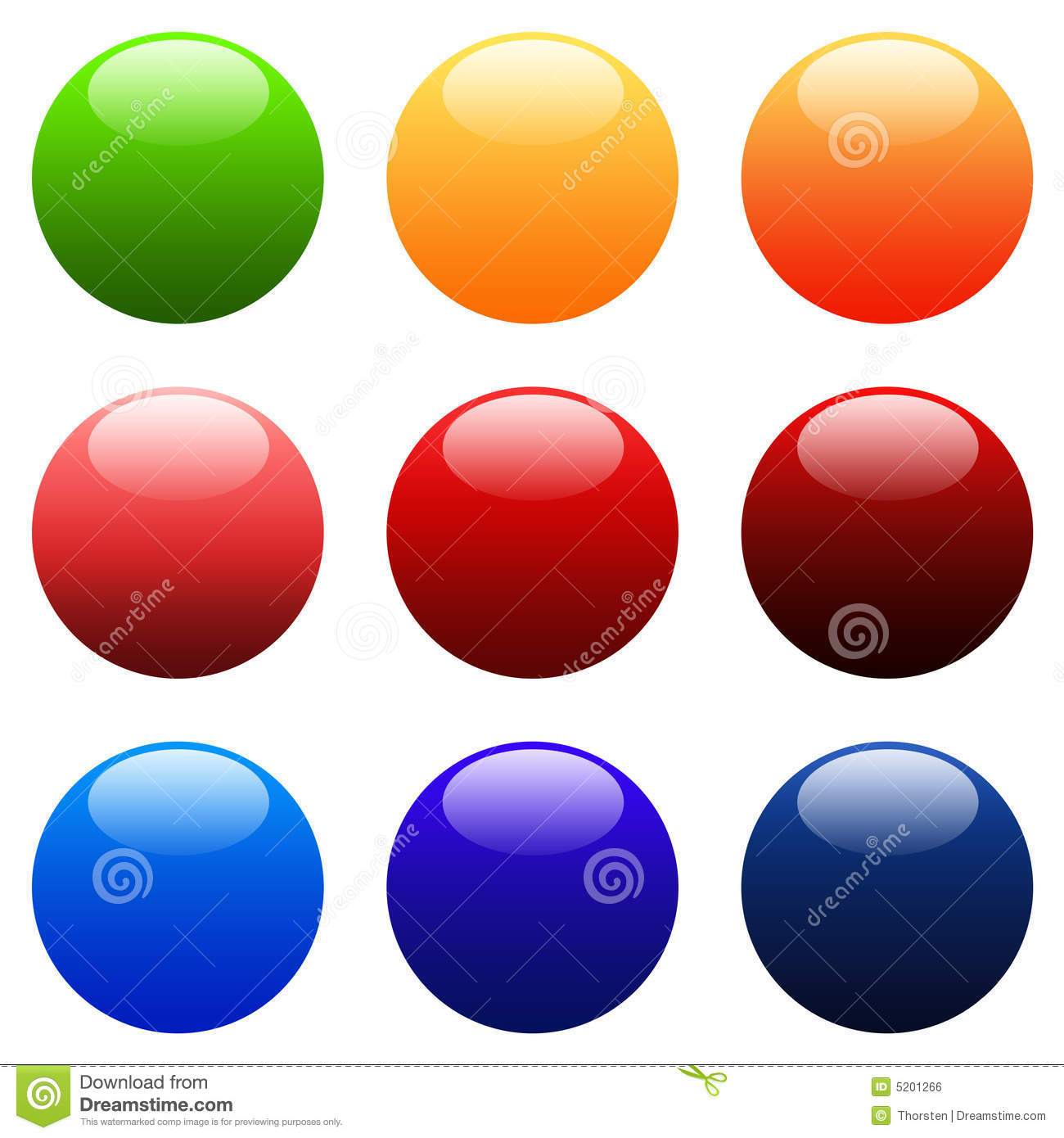 ... Round Gradient Web Buttons Royalty Free Stock Image - Image: 5201266