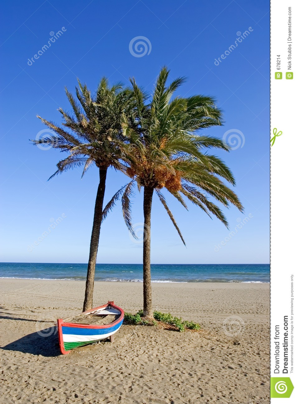 palm trees boat-#49