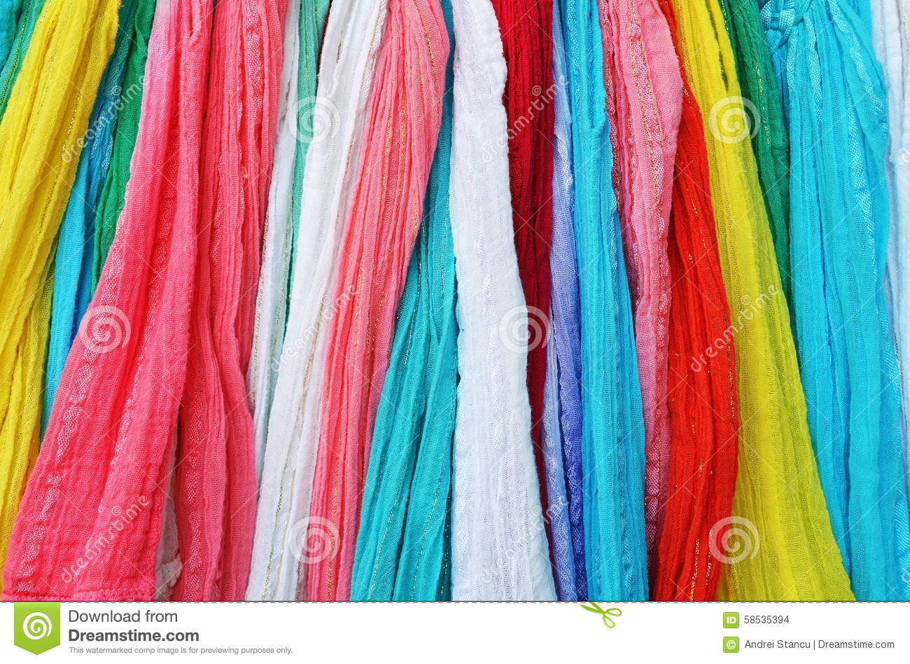 colourful scarves stock photo image 58535394