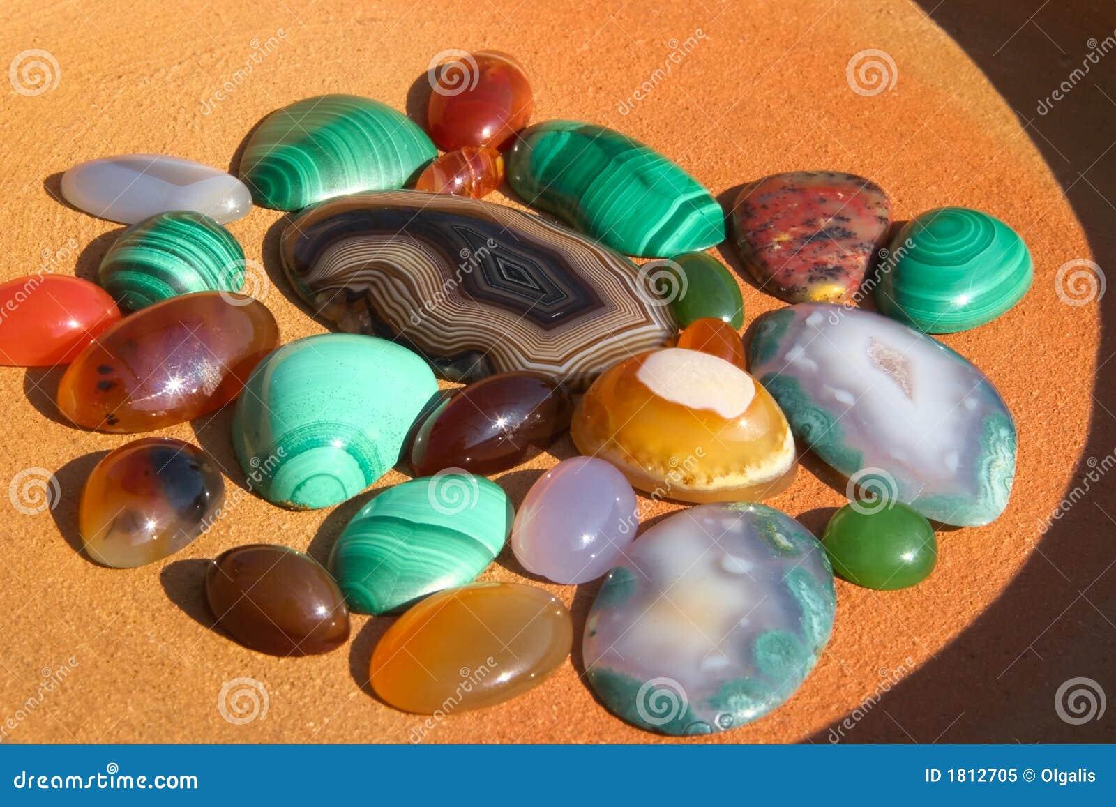 Colourful Semiprecious Stones Background Stock Image - Image of ...